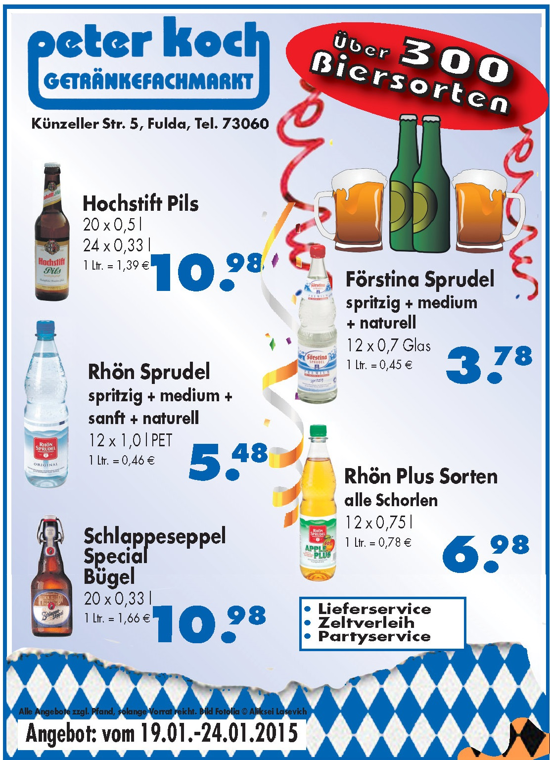 Angebote von 19.01 – 24.01.2015 | Peter Koch, Getränkefachmarkt ...