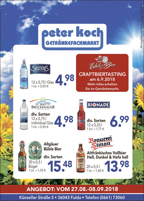 Aktuelles | Peter Koch, Getränkefachmarkt Fulda – über 300 ...